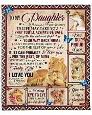 """Whenever Your Journey In Life Mom To Daughter Fleece Blanket - 50"""" x 60"""" front"""