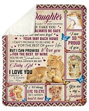 """Whenever Your Journey In Life Mom To Daughter Sherpa Fleece Blanket - 50"""" x 60"""" thumbnail"""