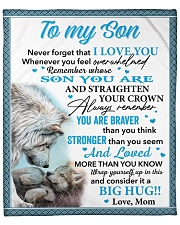 "Wolf Never 4get That I Love You Mom To Son Fleece Blanket - 50"" x 60"" front"