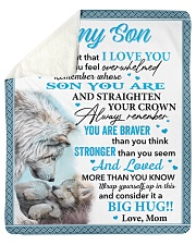 """Wolf Never 4get That I Love You Mom To Son Sherpa Fleece Blanket - 50"""" x 60"""" thumbnail"""