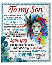 """You Are My Sunshine Dad To Son Fleece Blanket - 50"""" x 60"""" front"""
