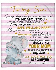 """My Love For U Is Forever Elephants Mom To Son Fleece Blanket - 50"""" x 60"""" front"""