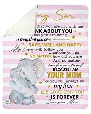 My Love For U Is Forever Elephants Mom To Son Sherpa Fleece Blanket tile
