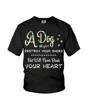 Dogs  will never break your heart  Youth T-Shirt thumbnail