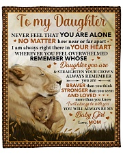 """Never Feel U Are Alone Lion Mom To Daughter Fleece Blanket - 50"""" x 60"""" front"""