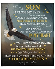 """I Close My Eyes For But A Moment Eagle Mom To Son Fleece Blanket - 50"""" x 60"""" front"""