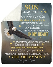 I Close My Eyes For But A Moment Eagle Mom To Son Sherpa Fleece Blanket tile