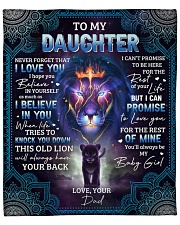 """Never Forget That I Love U Lion Dad To Daughter Fleece Blanket - 50"""" x 60"""" front"""