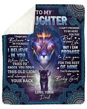Never Forget That I Love U Lion Dad To Daughter Sherpa Fleece Blanket tile