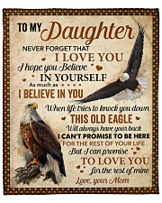 """Never Forget That I Love U Eagle Mom To Daughter Fleece Blanket - 50"""" x 60"""" front"""