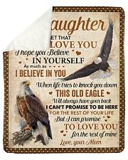 Never Forget That I Love U Eagle Mom To Daughter Sherpa Fleece Blanket tile