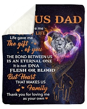 "Bonus Dad Lion Heart That Makes Us Family Sherpa Fleece Blanket - 50"" x 60"" thumbnail"