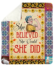 "She Believed She Could She Did Sherpa Fleece Blanket - 50"" x 60"" front"