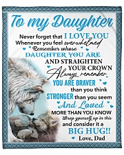 """Wolf Never 4get That I Love You Dad To Daughter Fleece Blanket - 50"""" x 60"""" front"""