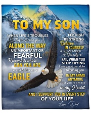 """I Support U In Every Step EagleDad To Son Fleece Blanket - 50"""" x 60"""" front"""