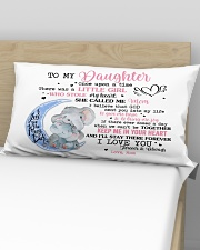 Once Upon A Time Was A Little Girl-Mom To Daughter Rectangular Pillowcase aos-pillow-rectangular-front-lifestyle-02