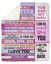 """You Are My Sunshine Dad To Daughter Sherpa Fleece Blanket - 50"""" x 60"""" thumbnail"""