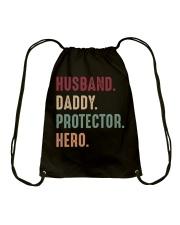 Husband Daddy Protectoe Hero Drawstring Bag thumbnail