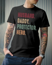 Husband Daddy Protectoe Hero Classic T-Shirt lifestyle-mens-crewneck-front-6