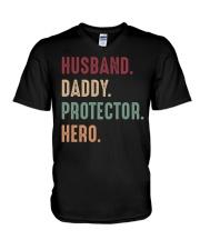 Husband Daddy Protectoe Hero V-Neck T-Shirt thumbnail
