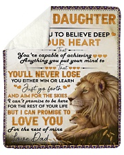 "I Want U To Believe Deep In Heart Dad To Daughter Sherpa Fleece Blanket - 50"" x 60"" thumbnail"
