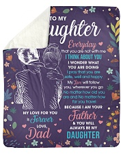 """Daughter My Love ForU Is Forever And Will Follow U Sherpa Fleece Blanket - 50"""" x 60"""" thumbnail"""
