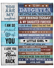 """I Love U More Than Anything Dad To Daughter Fleece Blanket - 50"""" x 60"""" front"""