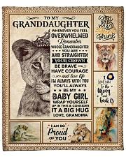 "Lion-Im So Proud Of You- Grandma-Granddaughter Fleece Blanket - 50"" x 60"" front"