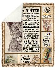 Lion-Im So Proud Of You- Grandma-Granddaughter Sherpa Fleece Blanket tile