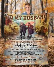 "The Day I Met You Wife To Husband Fleece Blanket - 50"" x 60"" aos-coral-fleece-blanket-50x60-lifestyle-front-01b"