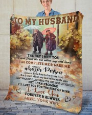 "The Day I Met You Wife To Husband Fleece Blanket - 50"" x 60"" aos-coral-fleece-blanket-50x60-lifestyle-front-02"