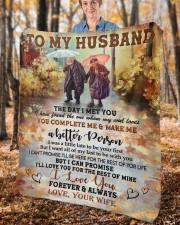 "The Day I Met You Wife To Husband Fleece Blanket - 50"" x 60"" aos-coral-fleece-blanket-50x60-lifestyle-front-02c"
