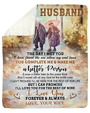 "The Day I Met You Wife To Husband Sherpa Fleece Blanket - 50"" x 60"" thumbnail"