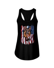 American Flag german shepherd Ladies Flowy Tank thumbnail