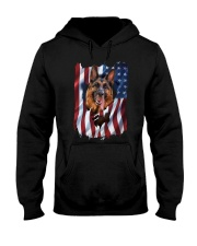 American Flag german shepherd Hooded Sweatshirt thumbnail