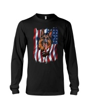 American Flag german shepherd Long Sleeve Tee thumbnail