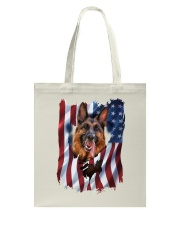 American Flag german shepherd Tote Bag thumbnail
