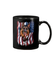 American Flag german shepherd Mug thumbnail