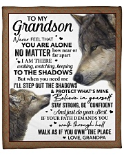 """Never Feel You Are Alone Grandpa To Grandson Fleece Blanket - 50"""" x 60"""" front"""