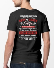Sorry I Am Already Taken By A Sexy Crazy Wife Classic T-Shirt lifestyle-mens-crewneck-back-5