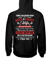 Sorry I Am Already Taken By A Sexy Crazy Wife Hooded Sweatshirt thumbnail