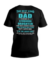 The Best Kind Of Dad Raised A Stubborn Daughter V-Neck T-Shirt thumbnail