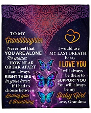 "Never Feel That U Are Alone Grandma-Granddaughter Fleece Blanket - 50"" x 60"" front"