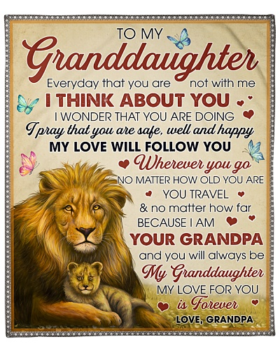 Granddaughter My Love Will Follow You Wherever You