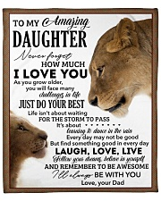 """Never Forget How Much I LoveU-Lion Dad To Daughter Fleece Blanket - 50"""" x 60"""" front"""