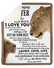 Never Forget How Much I LoveU-Lion Dad To Daughter Sherpa Fleece Blanket tile