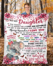"""In This Blanket Im Sending LotsOf Love To Daughter Fleece Blanket - 50"""" x 60"""" aos-coral-fleece-blanket-50x60-lifestyle-front-01b"""