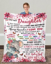 """In This Blanket Im Sending LotsOf Love To Daughter Fleece Blanket - 50"""" x 60"""" aos-coral-fleece-blanket-50x60-lifestyle-front-01c"""