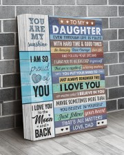 Even Though Life Is Filled Hard Time - To Daughter 11x14 Gallery Wrapped Canvas Prints aos-canvas-pgw-11x14-lifestyle-front-12