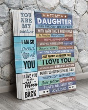 Even Though Life Is Filled Hard Time - To Daughter 11x14 Gallery Wrapped Canvas Prints aos-canvas-pgw-11x14-lifestyle-front-13